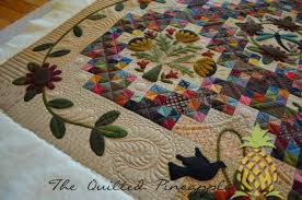 the quilted pineapple sunflower gatherings primitive gatherings