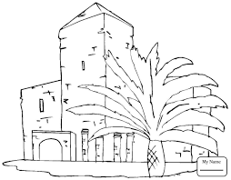 coloring pages for kids beautiful building arts culture houses