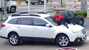 a picture of a car jumps on car as thief drives cnn