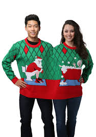 two person deck the bathroom sweater