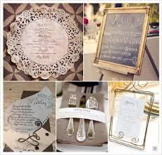 idã e menu mariage menu mariage baroque napperon dentelle papier cadre ardoise fil