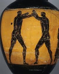 Greek Black Figure Vase Painting Art Resource Fine Art Stock Licensing