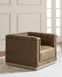 Tan Leather Accent Chair Chair Accent Furniture Neiman Marcus