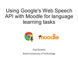 moodle theme api using google s web speech api with moodle for language learning