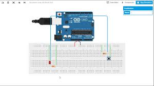 show how to connect a push button to arduino board and turning the