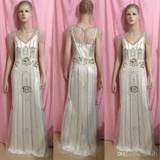deco wedding dress 2014 vintage gatsby wedding gowns sheath open back with beaded