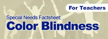 Color Blindness In Children Color Blindness Special Needs Factsheet