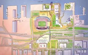 map of cleveland clinic cleveland browns pitch mixed use lakefront vision to attract