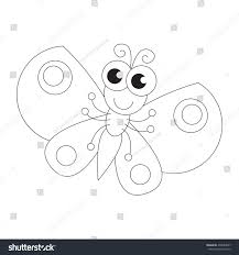 butterfly be colored coloring book educate stock vector 438087007