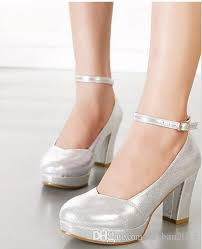 wedding shoes ankle sparkly wedding shoes pumps thick heel ankle bridesmaid