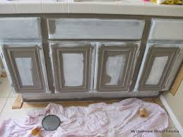 how to paint oak cabinets for gray bathroom cabinets home