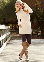 sweater with lean tunic sweater and with boots it