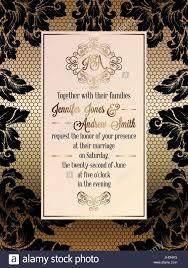 vintage style wedding invitations vintage baroque style wedding invitation card template