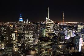top of the rock at night new york sightseeing