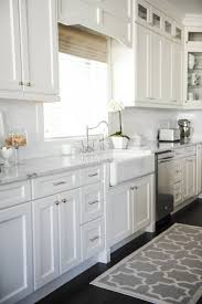 kitchen 12 photo of white kitchen cabinets with marble countertops