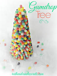 diy gumdrop tree can decorate