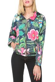 desigual hooded rain jacket from florida by i tesori u2014 shoptiques