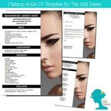 cv template package makeup artist includes a cv by digidame makeup artist cover letter sle sle make