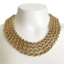 gold necklace vintage images Vintage monet wide gold tone chain link necklace jpg