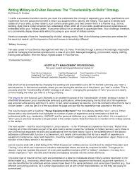 captivating military to civilian resume examples with additional