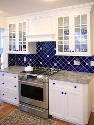 kitchen backsplash blue what not to do cabinet doors with grids and clear glass