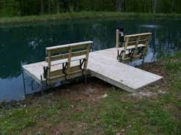 dock with benches for fishing put it a little further out add