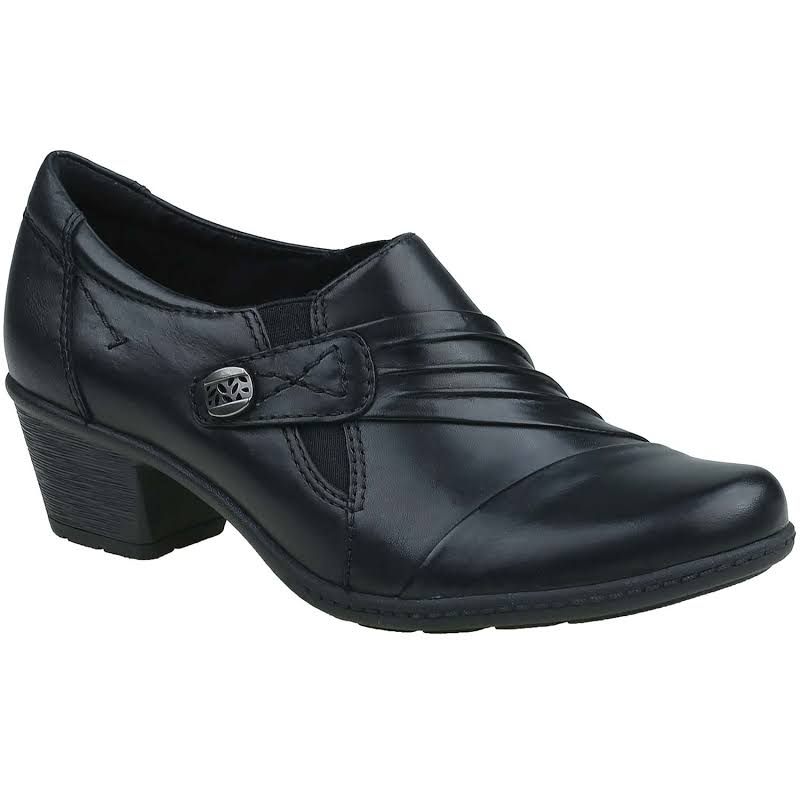 Earth Origins Madison Ruched Shooties, Wide Black, 7.5