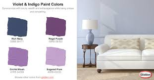 violet u0026 indigo paint colors