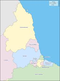 Map Of Yorkshire England by North East England Free Map Free Blank Map Free Outline Map