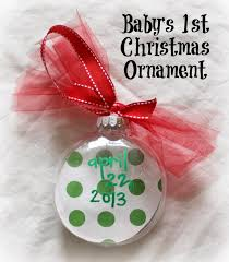 diy baby u0027s first christmas footprint ornament for under 2