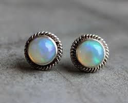 stud earrings online buy opal silver earrings opal stud earrings genuine opal