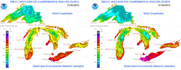 World Temperatures Map by Great Lakes Water Temperatures Much Warmer Than Last Year Mlive Com