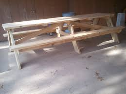 How To Build A Wooden Picnic Table by 10 U2032 Picnic Tables Jays Custom Creations