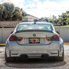 bmw m4 stanced enlaes f82 m4 trunk spoiler frp
