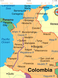 Colombian Map A Journey Through Colombia Meet You In The Morning