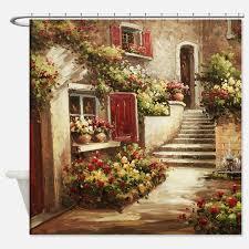 Italian Wall Decor Wall Art Designs Tuscan Wall Art Tuscan Courtyard Shower Curtain