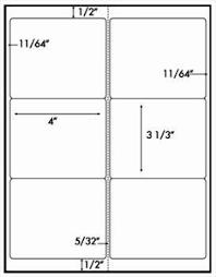 120 shipping labels 4 x 3 1 3 blank printable 20 sheets 6 per