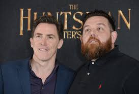 rob brydon hair nick frost and rob brydon photos photos the huntsman winter s