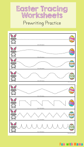 tracing paper for writing practice easter tracing worksheets for preschoolers fun with mama have your preschooler take the easter bunny to his egg while working on their pre writing skills see how you can strengthen their fine motor skills below