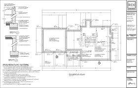 foundation floor plan foundation plans residential design inc