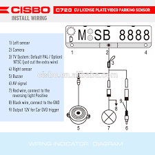 cisbo 3 in 1 european license plate frame parking sensors with hd