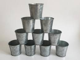 2017 galvanized succulent pots cheap vintage rustic nostalgia mini