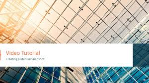 database design tutorial videos open cloud relational database service creating a manual snapshot