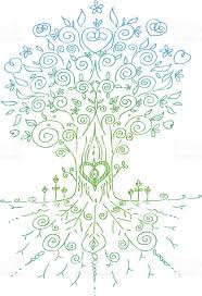 sketched tree made of doodles stock vector art 487903365 istock