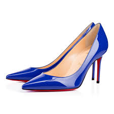christian louboutin decollete 554 patent leather electric