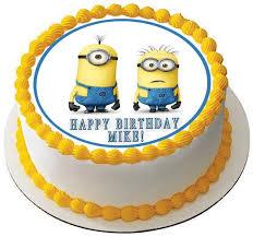 despicable me cake topper despicable me edible birthday cake or cupcake topper edible