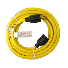 shop utilitech 25 ft 30 amp 110 volt 1 outlet 10 gauge yellow