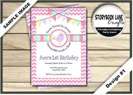 little birdie birthday invitation sweet bird invitation