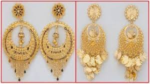 gold earrings design with weight gold chandbali earrings designs with weight gold earrings