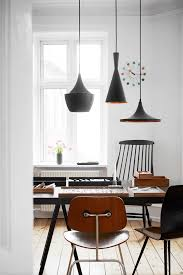 tom dixon brass pendant lights in a danish home the style files